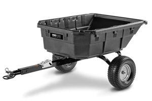 4048P-HYB | Ohio Steel 15 cu ft Poly Swivel Hybrid Dump Cart
