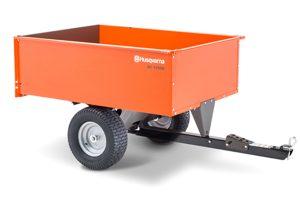HQ-1250SS | Husqvarna 16 cu ft Steel Swivel Dump Cart
